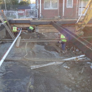 MFM Contracting crew working on Reconstruction of Boller and Needham Avenues
