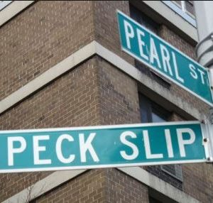 Peck Slip Street Sign MFM Contracting Corp Projects around New York City